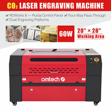 60w Co2 Laser Engraver Cutter Machine With 28x20 Inch Workbed And Ruida Control