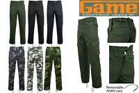 Game Mens Army Military Camo Cargo Multipocket Work Trousers | Pants