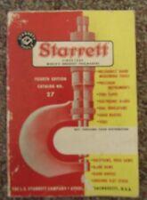 Starrett Tool Catalog 4th Edition No. 27 1965