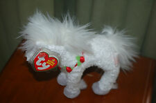 HOLLYHORSE HORSE the White Christmas Holiday Horse  - Ty Beanie Baby  MWMT