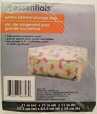 Jumbo Blanket Storage Bags Clear Plastic Zipper 1 Bags/Pk, Light Duty