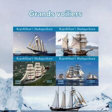 More details for madagascar tall ships stamps 2021 mnh sailing sail boats nautical 4v impf m/s