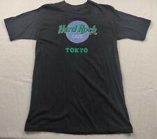 Vintage Hard Rock Tokyo Japan Black Graphic Tshirt Size S