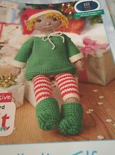 Elf rag doll Holly KNITTING PATTERN 37CMS WHEN FINISHED BN FROM MAG card