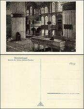 CONSTANTINOPLE KONSTANTINOPEL ISTANBUL - Inneres der Sultan-Achmed-Moschee -1930