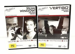 Alfred Hitchcock Vertigo & Rear Window DVDs Region 4 Free Postage