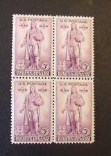 US Postage Stamps  1936 3c Scott 777 Rhode Island Tercentenary Lot of 4