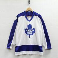 Vintage Toronto Maple Leafs CCM Maska Jersey Size Large 80s NHL Hockey