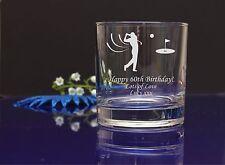 Personalised Golf engraved whiskey glass Birthday, Christmas present gift6