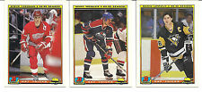1990-91 Bowman Hockey Hat Trick Insert Set of 22 Cards