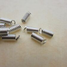 100 - Spring Cord Ends 3x7mm Metal - Finishing Pieces for many projects!