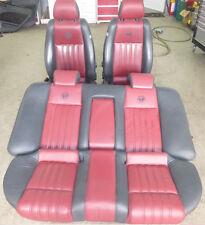 Original Alfa Romeo 159 Limousine Sitzausstattung Sitze Leder schwarz / rot TOP