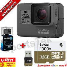 NEW GoPro HERO5 Black Camera  Built-In LCD 4K PLUS FREE 32GB 1000x LEXAR SD CARD