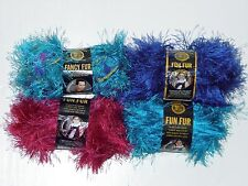 Mixed lot of 4 Skeins Lion Brand Fun Fur and Fancy Fur Yarn