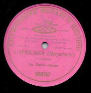 Enrico Caruso 1906 : L`Africana - Meyerbeer : O Paradiso