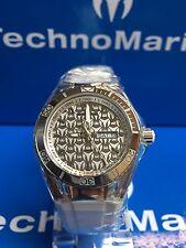 Technomarine TM-115060  Cruise Monogram Silver Dial Black & White Straps