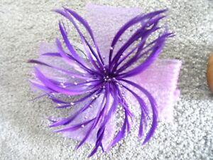 purple wedding facinator