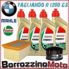 KIT TAGLIANDO OLIO CASTROL 15W50 +FILTRO OLIO ARIA MAHLE BMW R 1200 GS 2011 2012