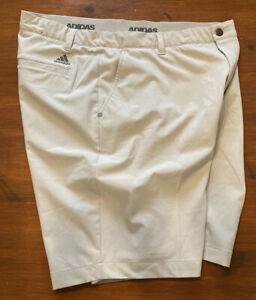 "Mens Ivory Adidas Stretch Fit Waist Golf Shorts, Size 36"" Pristine Condition"