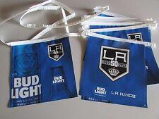 NEW Bud Light NHL Hockey LA Kings 50th Anniversary Beer String Banner T21 Bar