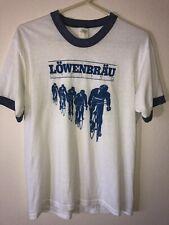 Vintage Men's Small Lowenbrau Cycling Team 80's Ringer T Shirt, Good Condition