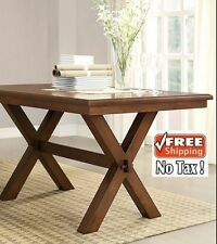 Dining Tables Room Rustic Trestle Wood Farmhouse Brown Country Kitchen Decor