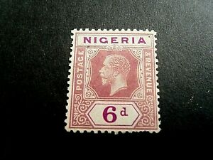 Nigeria 1921  KGV  Mm 6d stamp as per pictures
