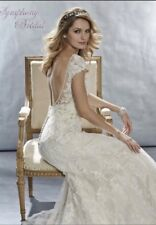 Symphony Bridal Wedding Gown, Size 12, Trumpet, Ivory, Style S3335