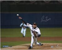 "Greg Maddux Atlanta Braves Signed 16"" x 20"" 1995 World Series First Pitch Photo"