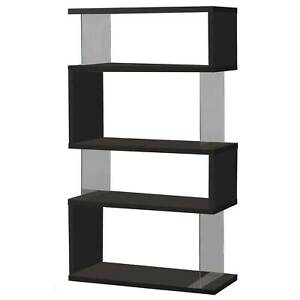 Coaster Home Furniture Asymmetrical Snaking Home Living Room Bookshelf, Black