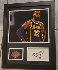 LEBRON JAMES AUTHENTIC Signed Autographed NBA LAKERS FRAMED 11X14 PHOTO AAA COA
