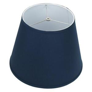 FenchelShades.com 11 in. x 17 in. x 13 in. Slant Linen N. Blue Empire Lamp Shade