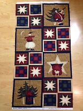 HOLIDAY HAPPENING by Sandra Gervais for Moda PANEL 100% Cotton RARE Quilt Fabric