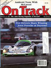 On Track Magazine February 22 1991 Joest Porsche Daytona Andretti VGEX 020816jhe
