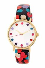 Kate Spade New York DANCING FLORAL DOT Metro Watch NIB 1YRU0265 NEEDS BATTERY!
