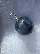 Super fine Kyanite 14ml. bead made into pendant with sterling silver for chakras