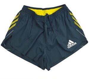 Adidas Adizero Herren Running Short Laufhose Split-Shorts kurze Hose blau grau