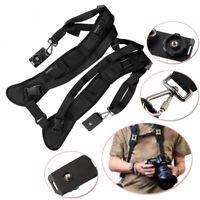 Shoulder Strap Belt Sling For 2 Digital DSLR SLR binoculars Quick Digital Camera