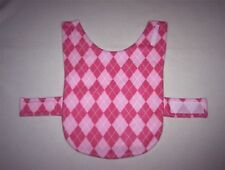 PINK ARGYLE FLEECE MEDIUM DOG COAT--25-34 LB DOG