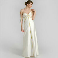 NICOLE MILLER IVORY SHANTUNG STRAPLESS WEDDING BRIDAL GOWN DRESS 4 $1900 IM0003