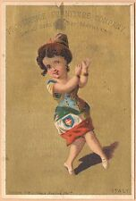 Victorian Trade Card-Providence Furniture Co-Woman Dresssed in Flag of Italy