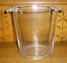 "Royal Doulton ? Crystal Champagne / Ice Bucket - 7 3/8"" - Scratching - Flower"