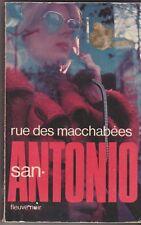 Frédéric Dard - San Antonio  - rue des macchabées .