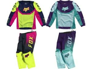 Fox Racing Youth Girl Kid's 180 Voke Jersey & Pant Combo Set Gear MX 3-5 Year 21