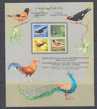 CEYLON, 1964 Birds of Ceylon Souvenir Sheet, lhm.
