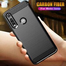 For Motorola Moto G Fast One Fusion+ Matte Carbon Fiber Soft TPU Case Cover Skin