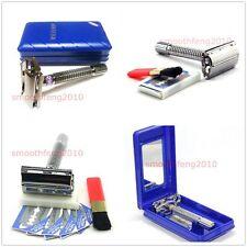 Weishi 9306F Classical DE razor Safety Razor 5pcs Dorco blade with travel case