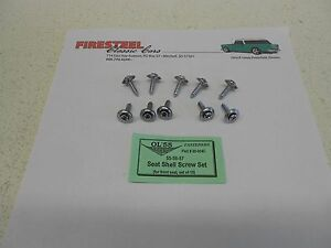 1955 1956 1957 Chevy #20-004C SEAT SHELL Screw Set  10 pc.  - New