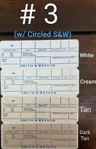 *NEW* Smith & Wesson Box LABELS (2) Blank Fill in Info *New Styles & Colors*