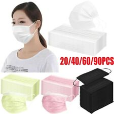20-90PCS Face Mask Proof Protective Face Mouth Cover Outdoor Anti Haze Mask
